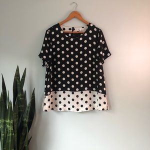 DR2 • Black & White Polka Dot Blouse